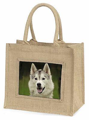 Sibirischer Husky Hund Große Natürliche Jute-einkaufstasche Weihnachten Ide,