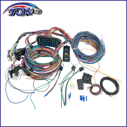 20 CIRCUIT WIRING HARNESS MINI FUSE CHEVY FORD HOTRODS UNIVERSAL X-LONG WIRES