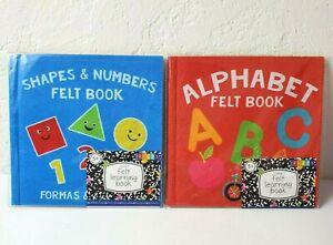 2 Felt Learning Activity Books Set Kindergarten Age3+ Horizon Group Shapes ABCs