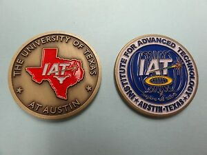 Details about CHALLENGE COIN THE UNIVERSITY OF TEXAS AT AUSTIN IAT  INSTITUTE FOR ADVANCED TECH