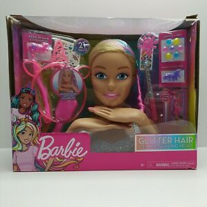 Barbie-Glitter-Hair-Deluxe-Styling-Head-Damaged-Retail-Packaging-63576