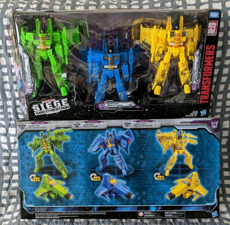 Transformers WFC Siege Rainmakers Jets Masse Ion Nova Acid Storm Target 3pk Rare