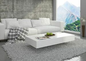 Das Bild Wird Geladen Couchtisch Hochglanz Weiss Wohnzimmer Tisch Beistelltisch Kaffeetisch Modern