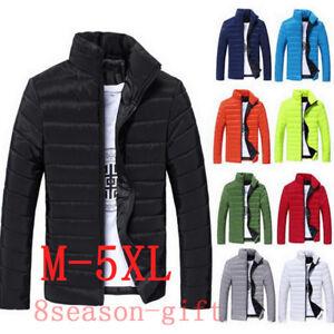 US-Hot-Men-039-s-Winter-Hooded-Thick-Padded-Jacket-Zipper-Slim-Outwear-Coat-Warm-New