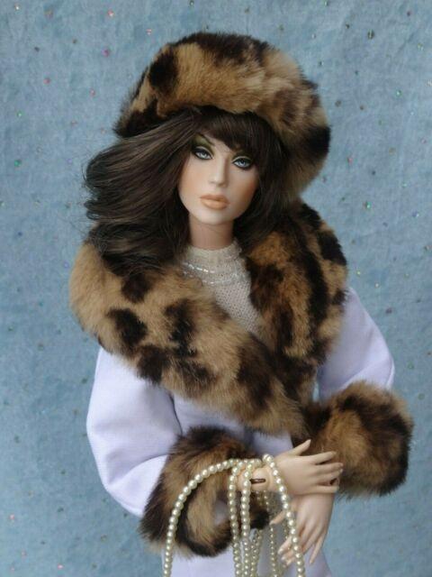 """Tonner Tyler Gene Ficon SALE Allfordoll Pink FUR wool /""""Twist/"""" COAT for 16/"""" Doll"""