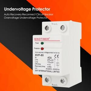 Best Auto Recovery >> Details About 230v Auto Recovery Reconnect Circuit Breaker Overvoltage Undervoltage Protector