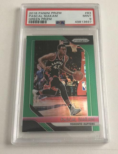 2018-2019 PASCAL SIAKAM Panini Green Prizm PSA 9 MINT Toronto Raptors NBA Card