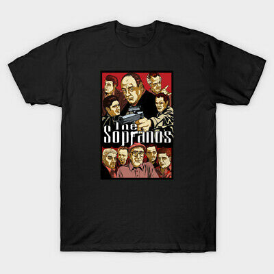 Sopranos Tony Soprano Mob Mafia Tv Show Black T Shirt