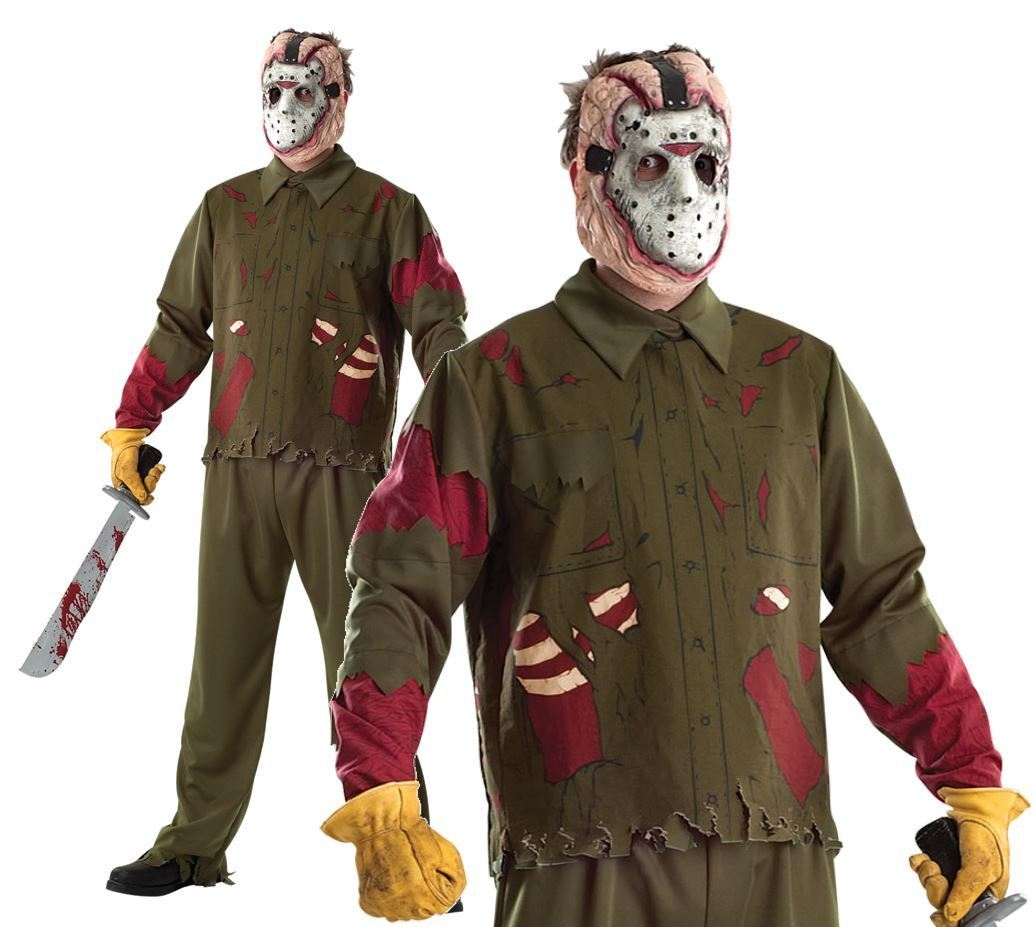 Adult DELUXE JASON VOORHEES Friday 13th Fancy Dress Horror Evil Halloween Costum | Neue Sorten werden eingeführt
