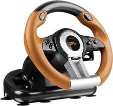 Speedlink DRIFT O.Z. Racing Wheel PC, black-orange, Lenkrad mit Pedale für PC!