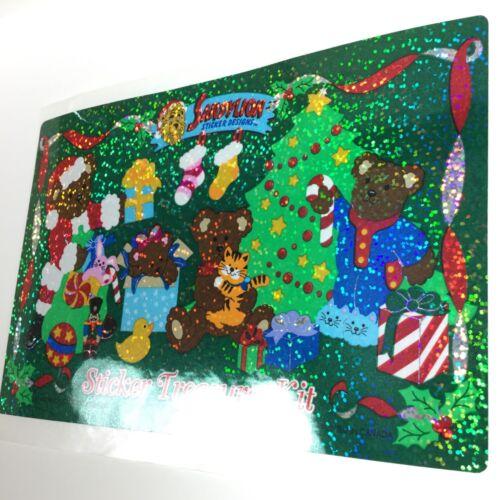 Vtg Sandylion Rare Prismatic Glittery Glitter Bear STICKER TREASURE Dated 1995