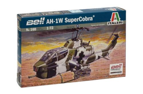 Italeri 160 1//72 Scale Model Attack Helicopter Kit U.S Bell AH-1W Super Corba