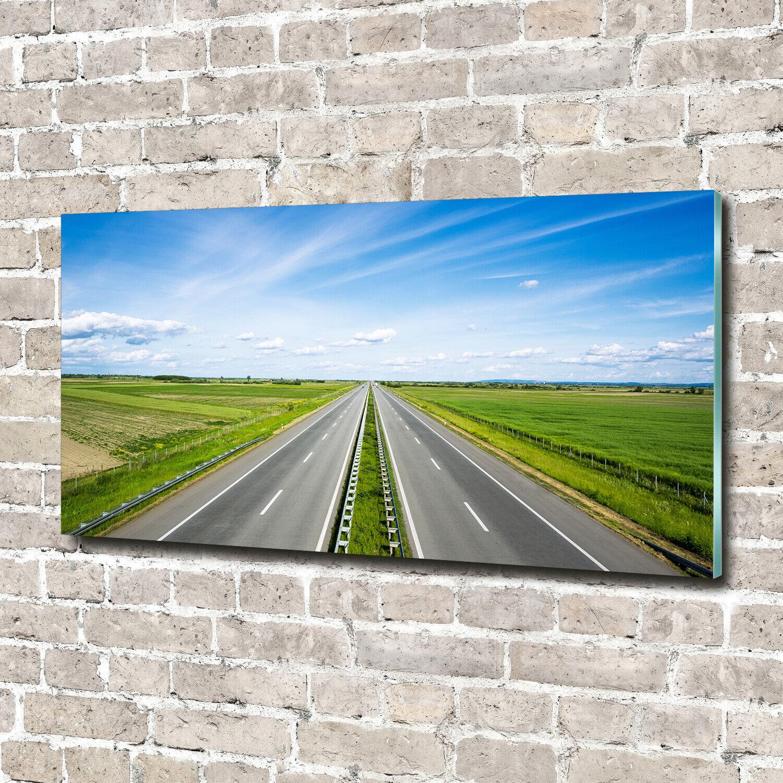 Wandbild aus Plexiglas® Druck auf Acryl 140x70 Landschaften Autobahn
