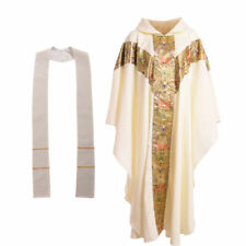 BLESSUME Church Clergy Vestments Catholic  Priest Chasuble Cope J032 Robe