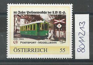 """Österreich PM personalisierte Marke Eisenbahn """"Postsport Modellbahn """" ** - St. Pölten, Österreich - Käufer haben das Recht innerhalb von 10 Tagen den gekauften Artikel zurückzusenden. Die Kosten für die Rücksendung trägt der Käufer. - St. Pölten, Österreich"""