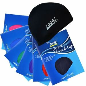 Zoggs-Deluxe-Stretch-Cap-Spandex-Fabric-Material-Swimming-Swim-Pool-Hat-New-Caps
