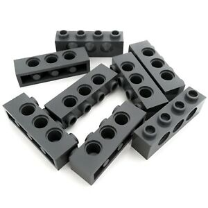 gris foncé dark grey Brick Technic 1x4 Holes NEW 6 x LEGO 3701 Brique Trous