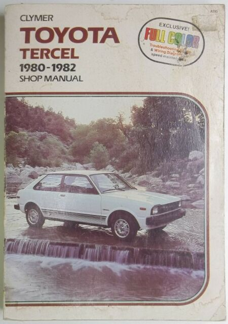 1980 Thru 1982 Clymer Toyota Tercel Shop Manual With Full