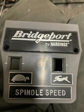 HARDINGE  BRIDGEPORT MILLING MACHINE SPEED ADJUSTING DIAL PLATE