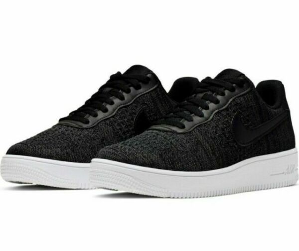 Size 13 - Nike Air Force 1 Flyknit 2.0 Black Anthracite for sale online ...