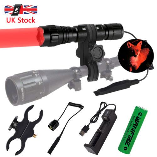 8000LM Lamp Scope Mount Gun Light Lamping Hunting Air Rifle Torch /& Batteries UK