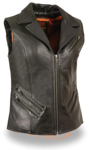 rabattu poches col cuir en 7 glissière moto col Veste à et de en cuir pour à pR7qqwA0Z