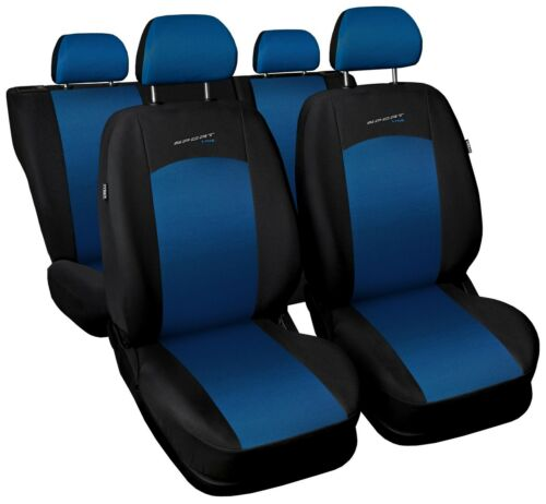 Sitzbezüge Sitzbezug Schonbezüge für Kia Carens Blau Sportline Komplettset