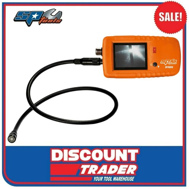 """SP Tools Video Borescope with 9mm Camera 2.4"""" Colour TFT LCD Screen - SP70925"""