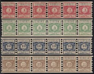 Scarce Automatic Receiving Teller First National Bank Savings Stamps Strips of 6