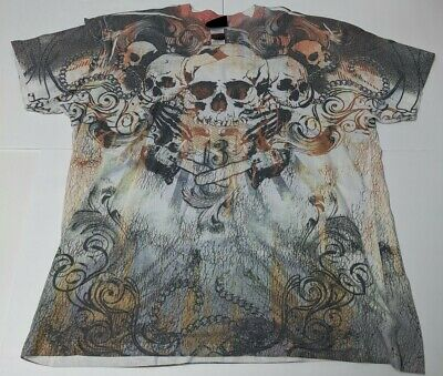 Chopper Motorcycle Biker Skull Death Skeleton Chains Rider  Long Sleeve Thermal