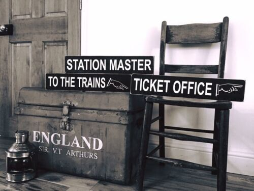Railway Signs Vintage Style Train Trains GWR Station Old Steam Wooden