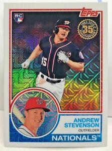 e605b76a8 Andrew Stevenson 2018 Topps Series 1 Chrome 1983 Refractor RC #45 ...