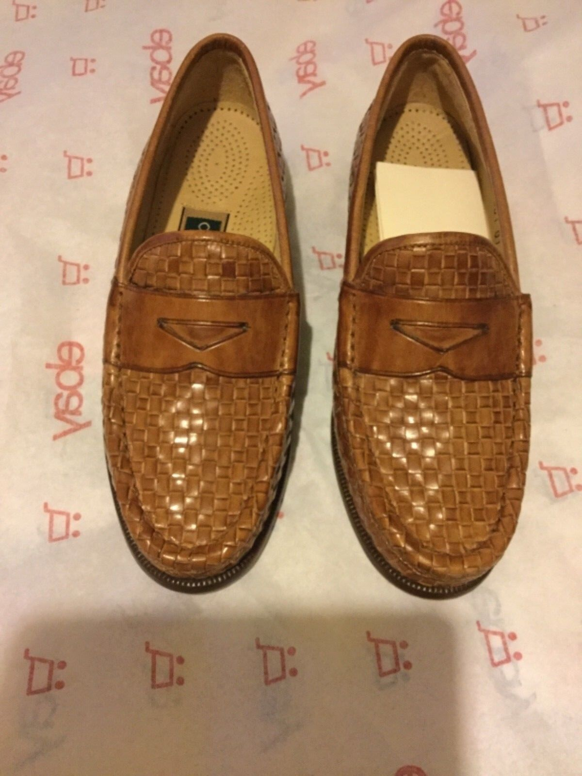 NEW Cole Haan Women's Woven Leather Loafers w  Comfort Insole - 6 M