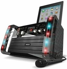 Akai KS213 Portable CD Cradle Singing Party Karaoke Machine System iPod LED Kids