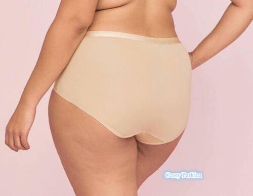 "B3-1 US /""CACIQUE/"" Plus Size No Show Extra Soft Full Brief Panties Beige 14-28 AU"