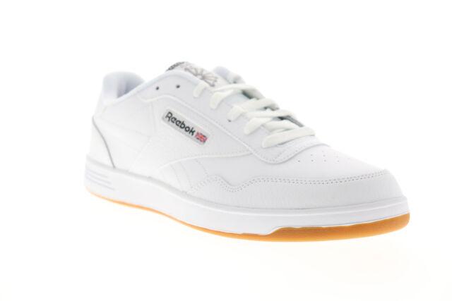 REEBOK Men Shoes Club Ment White Black Gum Bottom Leather