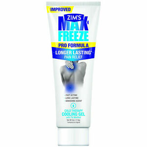 Zim's MAX FREEZE MUSCLE & JOINT PAIN RELIEF COOLING GEL with Menthol ADVANCED FO