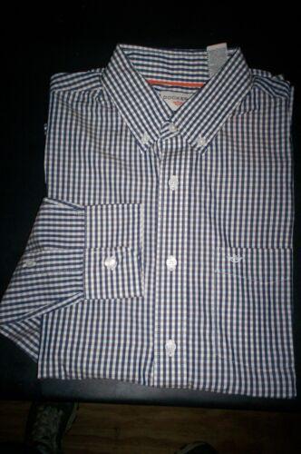 NWT $50 DOCKERS Soft No Wrinkle Long Sleeve Shirt Buttondown-Navy plaid-XX-large