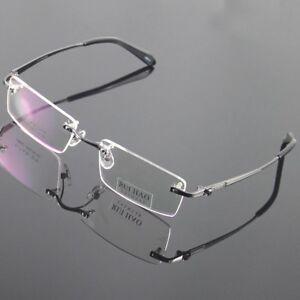 7a5839c54f1a Image is loading Glasses-Eyewear-Eyeglasses-Women-Men-Titanium-Frame-Rimless -