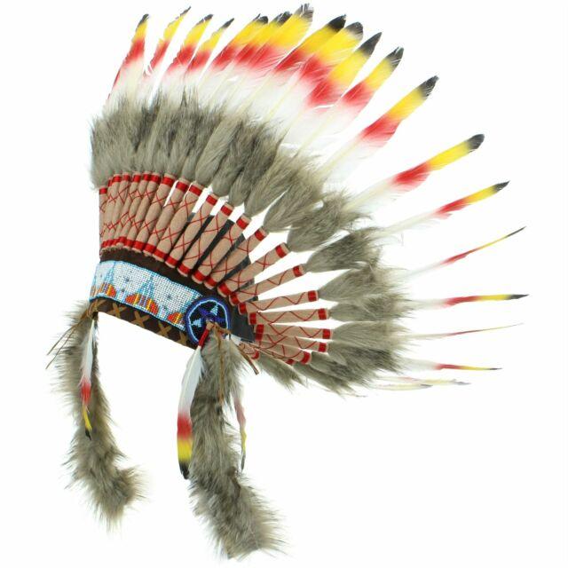 2e5579dcd9d76 Penacho indio jefe plumas sombrero nativo americano Gringo rojo negro  amarillo. Acerca de este producto. Imagen 1 de 3  Imagen 2 de 3  Imagen 3  de 3. Imagen ...