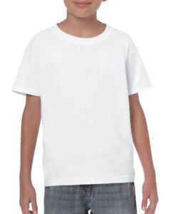 a0bd40afd61 Plain White Childrens Kids Boys Girls Childs Cotton Tee T-Shirt ...