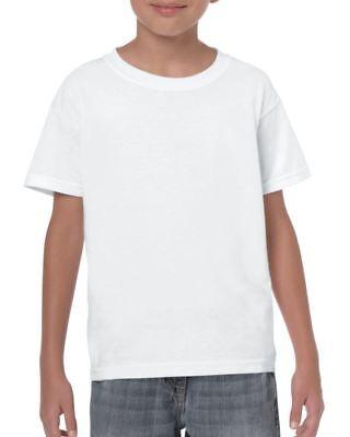 Plain White Fruit of the Loom Kids Boys Girls T Shirt Age 5-6 Childrens Tee