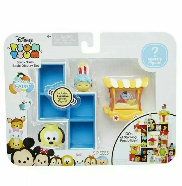 Tsum Tsum Stack ems Popcorn Fun at The Fair 13 Pieces GLITTER FIGURE /& MYSTERY