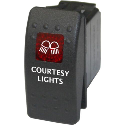 Rocker switch 714 red 12V COURTESY LIGHTS marine steps led power