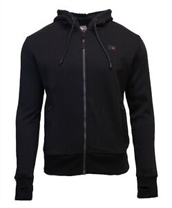 Superdry-Mens-New-Trekker-Fleece-Full-Zip-Hoodie-Long-Sleeve-Black
