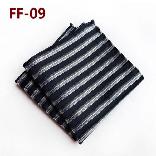 25*25cm Men/'s Silk Handkerchief Hanky Man Paisley Floral Pocket Square UK