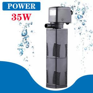 ECO 3 in 1 Fish Tank Filter Pump Aquarium Submersible Water Power 600-1600L/H