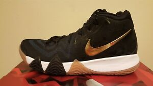purchase cheap 061ca 7caec Details about Nike Kyrie 4 Men's Basketball Shoes Pitch Blue/Metallic Gold  (943806 403)