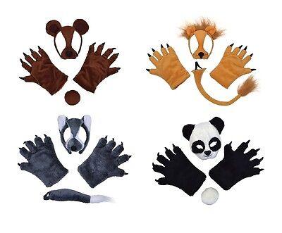 Animali E Natura Set Panda Lupo Leone Vestito Accessorio Costume Adulto-mostra Il Titolo Originale