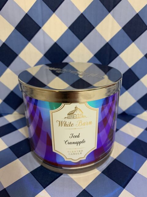 Bath And Body Works Iced Cranapple Large 14.5oz 3 Wick Candle New